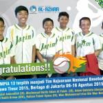 Murid SMPIA 13 terpilih menjadi Tim Kejurnas Baseball U-15  Jatim 2015, Berlaga di Jakarta 9-16 Agus...
