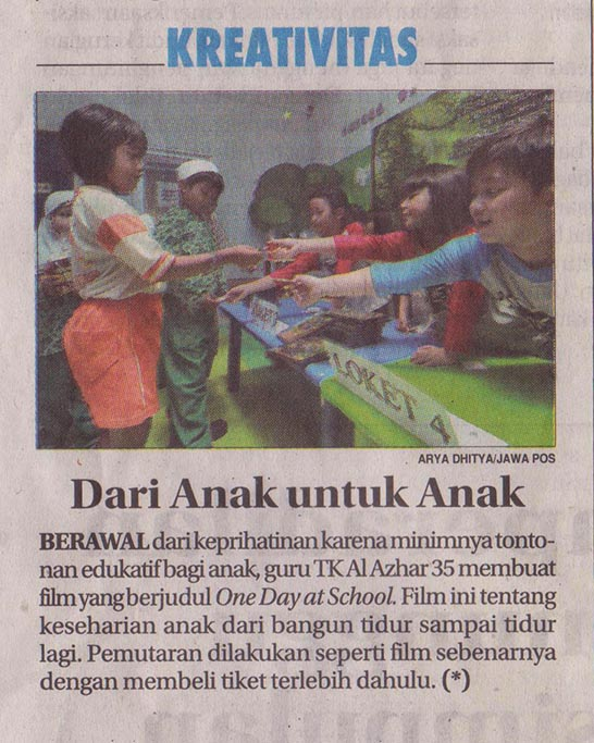 Launching One Day At School, Jawa pOs Hal 28 Minggu 10 April 2016r