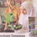 Robot Penyiram Tanaman Melaju APCYS 2016, Jawa Pos 20 Mei 2016