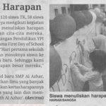 Siswa Baru Tulis Harapan @ Koran Harian Bangsa 19 Juli 2016
