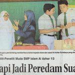 "Berita Jawa Pos 29 November 2016,  Inovasi KIR SMPIA 13 Surabaya ""Peredam suara dari kotoran"
