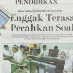 Berita Jawa Pos, 1 Februari 2017, Inovasi SMPIA 13 Surabaya, Aplikasi Yukbelajar buat siswa makin se...