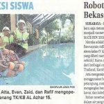 Robot dari barang Bekas berprestasi, Jawa Pos 7 Mei 2018 hal 25