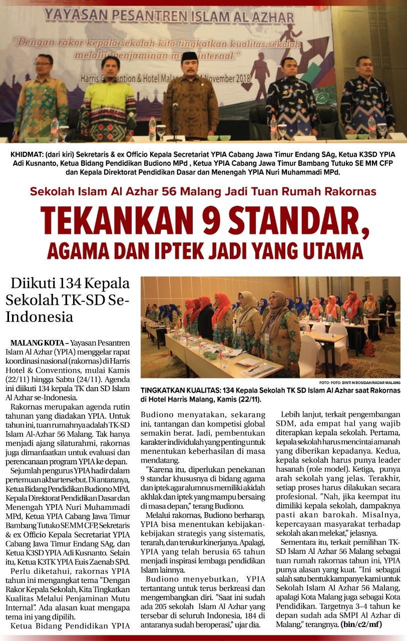 rakornas-al-azhar-se-indonesia-jawa-pos-radar-malang-rabu-28-november-2018