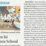 Program Green School SDIA 52 Sidoarjo, Jawa Pos hal 29 Selasa 29 Januari 2019